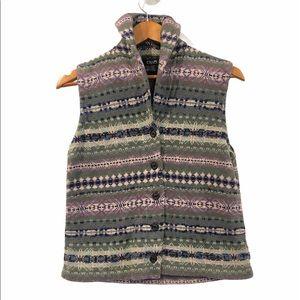 Vintage Button Up Sweater Vest Cottagecore Medium